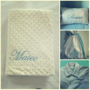 Nombres bordados en prendas